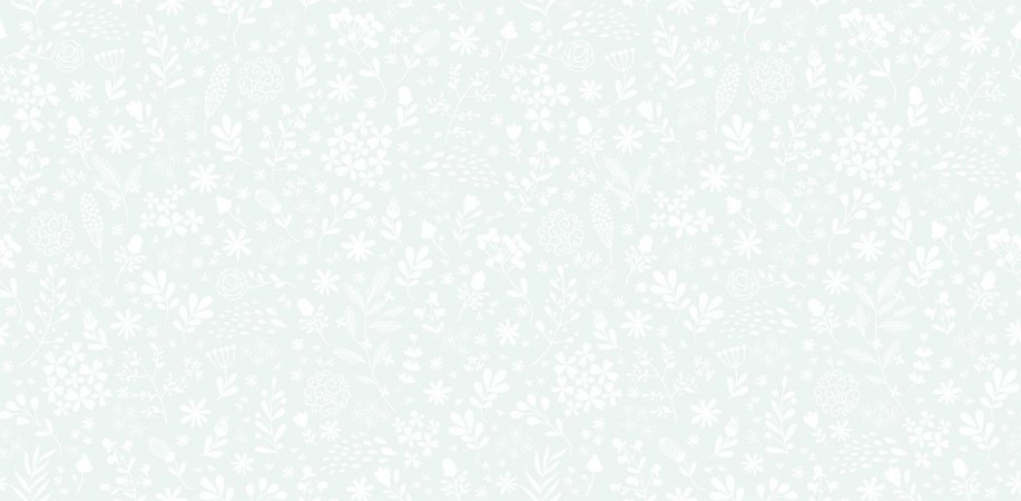 Papel de Parede Dream Word Floral Azul/Branco - 1,06m x 15m