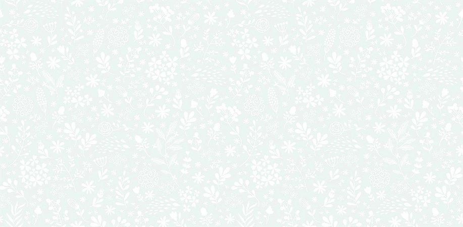 Papel de Parede Dream World Floral Azul/Branco 15 Metros