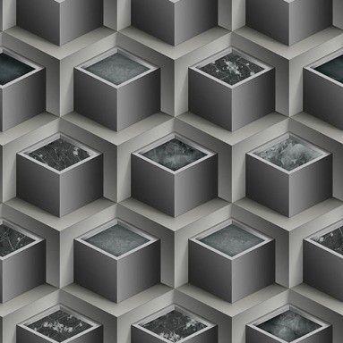 Papel de Parede 3D cinza 10 Metros