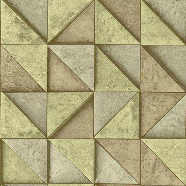 Papel de Parede 3D Geométrico Bege 10 Metros