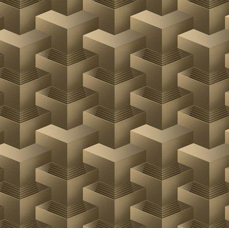 Papel de Parede 3D Geométrico Marrom 10 Metros