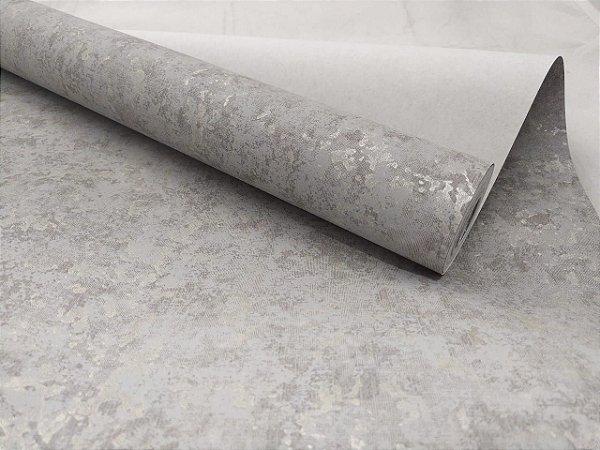Papel de Parede Cimento Queimado Mesclado-Escuro 10 Metros