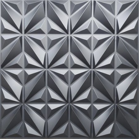 Placa 3D Adesiva 50X50 Preta África