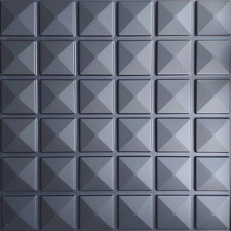Placa 3D Adesiva 50X50 Preta Inca