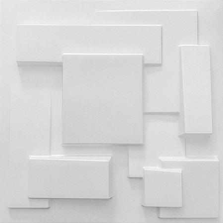 Placa 3D Adesiva 50X50 Branca Cidades