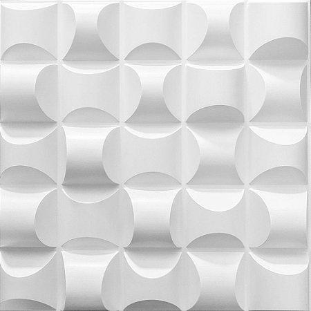 Placa 3D Adesiva 50X50 Preta Troia
