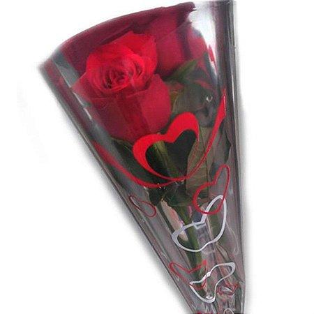 PROMOÇÃO Dia das Mulheres - Rosa Decorada com Laço 20 Unidades - Ganhe Desconto Acima 100 Unidades