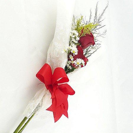 Buquê de Rosas Simples 2 Flores