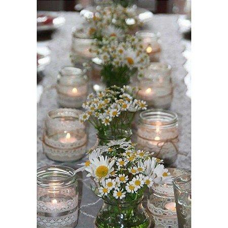 Faça você mesmo: Aster na decoração de Potes de Vidro Mesa de Convidados
