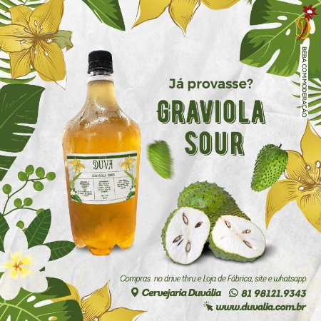 Graviola SOUR 1L em Growler Pet