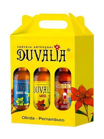 KIT PRESENTE DUVÁLIA 3 UNID. 500 ml (Blond Ale + Weiss + IPA Silibrina)