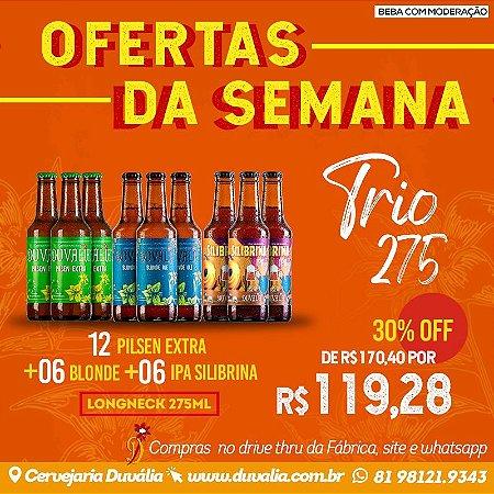 TRIO 275 (12 PILSEN + 06 BLONDE + 06 IPA)