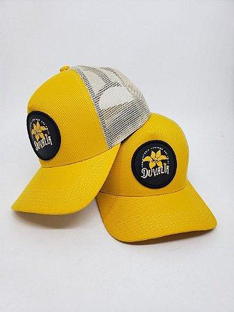 Boné Cap com Aplique 3D Amarelo