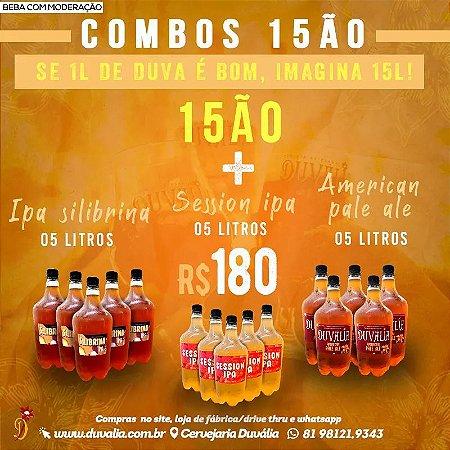 COMBO 15ÃO: 5L IPA SILIBRINA + 5L APA + 5L SESSION IPA