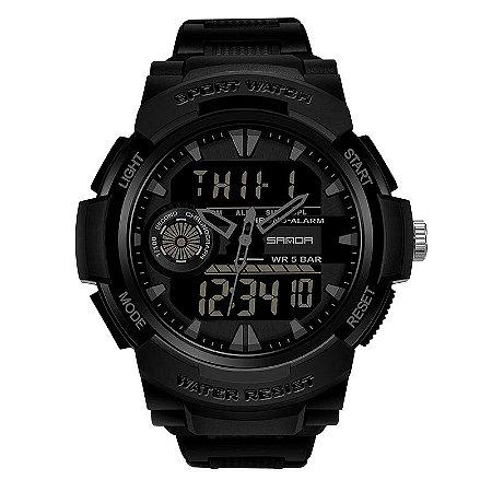 Relógio Militar Esportivo Sanda DT6002 Original à Prova D'água