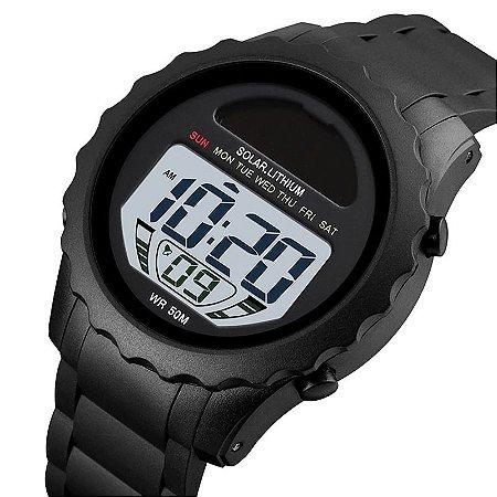 Relógio Esportivo SK 1585 Life Sun com Carregamento Solar à Prova D'água Original