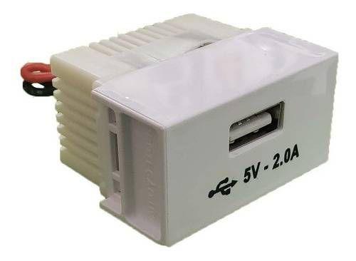 MODULO 1 TOMADA USB SLIM 8191 ILUMI