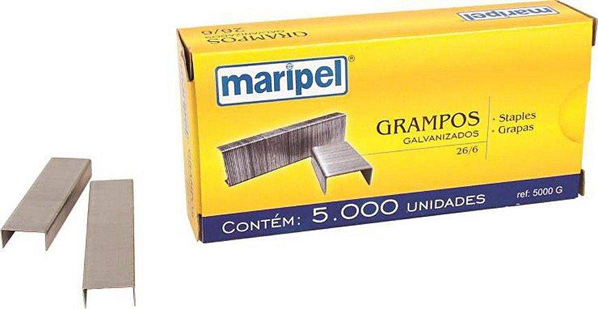 GRAMPO GALVANIZADO 26/6 C/5000 UNID. MARIPEL