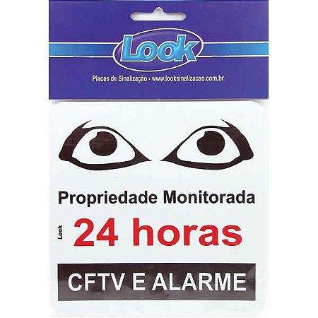 PLACA SINALIZACAO POLIESTILENO 15X15 MONITORADO 24HS.