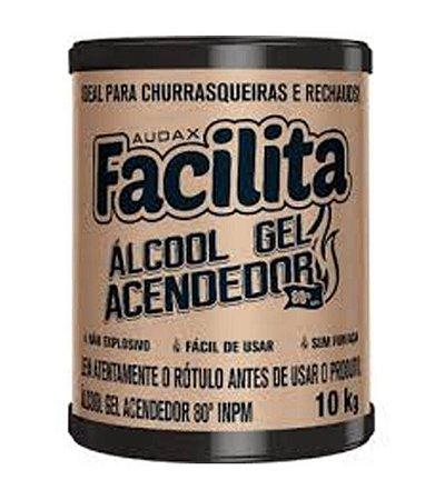 ÁLCOOL 80º GEL ACENDEDOR BARRICA 10KG. FACILITA AUDAX