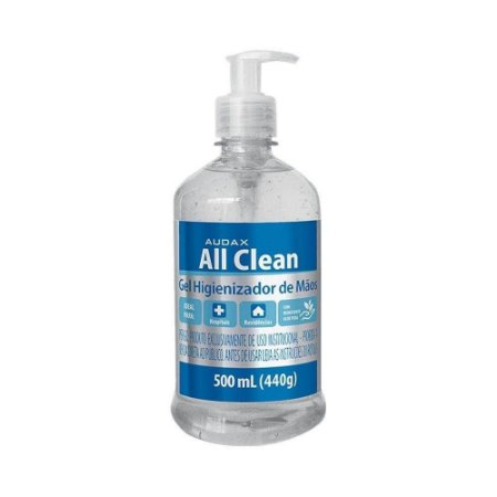 ÁLCOOL 70º GEL ASSÉPTICO 500ML. PUMP ALL CLEAN AUDAX