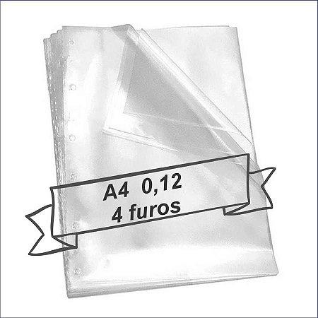 SACO PLASTICO A4 4 FUROS 0.12 MICRAS C/100 ACP