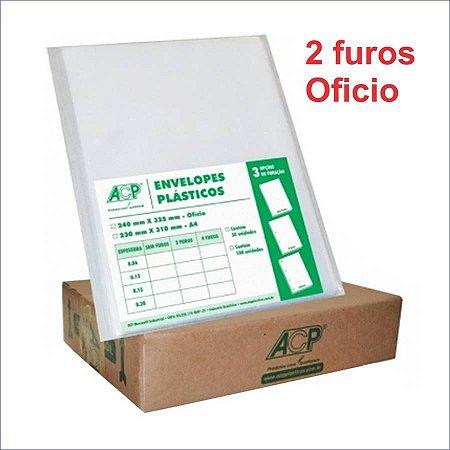SACO PLASTICO OFICIO 2 FUROS 0.12 MICRAS C/500 ACP(23782)