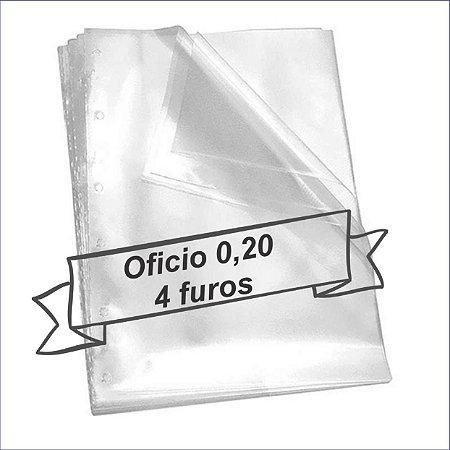 SACO PLASTICO OFICIO 4 FUROS 0.20 MICRAS C/100 ACP(86388)