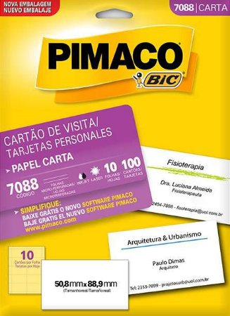 ETIQUETA PIMACO 7088 - ETIQUETAS 50,8 X 88,9 (10 FLS X 10 UNID.)