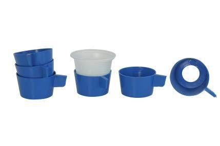 BASE PLASTICA AZUL P/COPO CAFE C/ 20UNID. 25X58X43 JSN(A7_AZ)