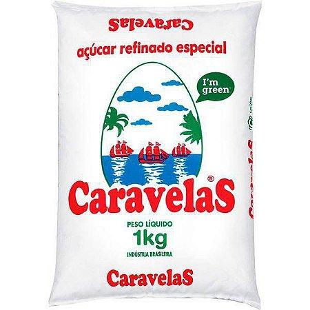 AÇÚCAR REFINADO 1KG. DA BARRA/CARAVELAS
