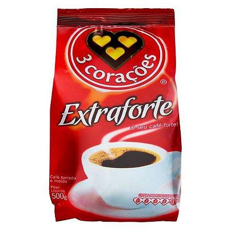 CAFÉ EXTRA FORTE ALMOFADA 500GR. 3 CORAÇÕES