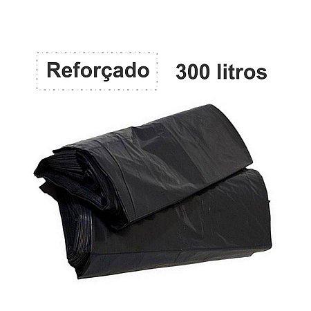 SACO PARA LIXO PRETO 300L. ALMOFADA REFORÇADO 5 KG.
