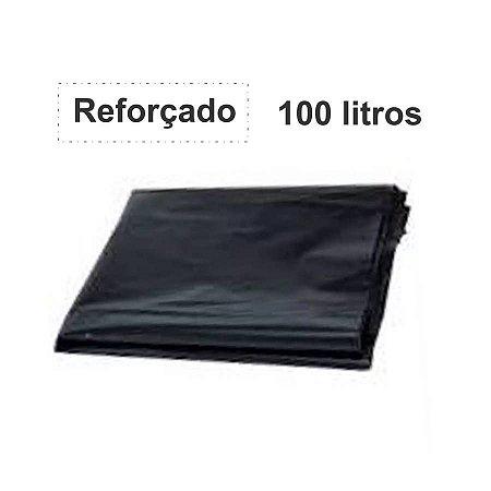 SACO PARA LIXO PRETO 100L. ALMOFADA REFORÇADO 1KG 90X110