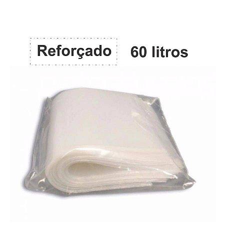 SACO PARA LIXO BRANCO 60L. C/100 UNID. ALMOFADA REFORÇADO 3,0KG 65X80X06 SOMIL