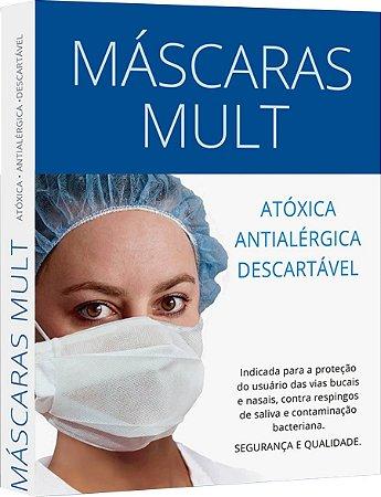MÁSCARA DESCARTÁVEL ANTIALÉRGICA BRANCA 03 UNIDADES
