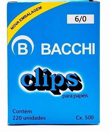 CLIPS GALVANIZADOS N.6/0 220 UNID. LINHA LEVE BACCHI(107687)