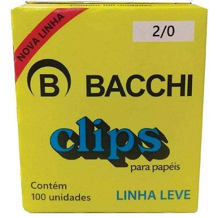 CLIPS GALVANIZADOS N.2/0 100 UNID. LINHA LEVE BACCHI