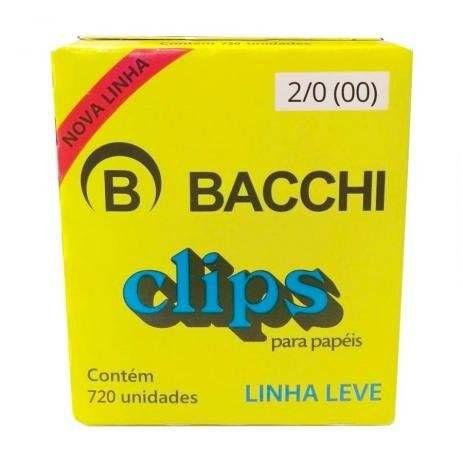 CLIPS GALVANIZADOS N.2/0 720 UNID. LINHA LEVE BACCHI(107623)