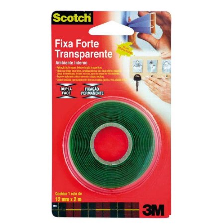 FITA DUPLA FACE VERDE INTERNA 12MM X 2M. 3M(25134)
