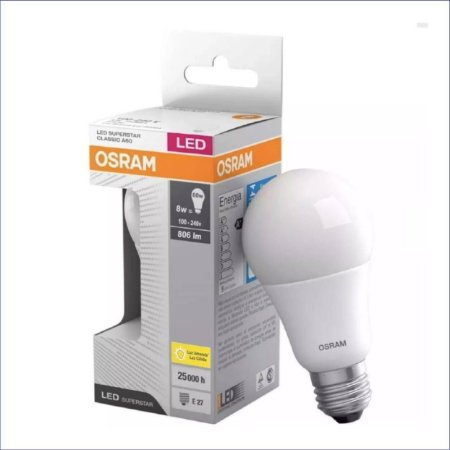 LED A60 08W 6000K BIVOLT E27 Ø60X115MM OSRAM