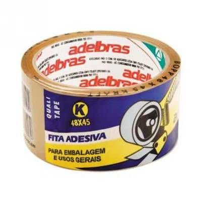 FITA ADESIVA EMBALAGEM MARROM 48MM X 45M 1 UNID. KORETECH/ADELBRAS
