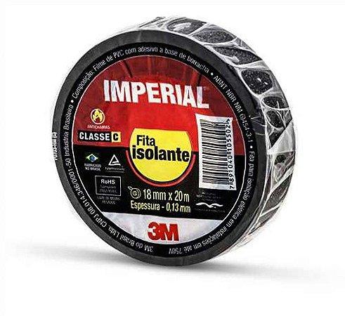FITA ISOLANTE IMPERIAL 20 MTS X 18MM PRETA UNID. 3M