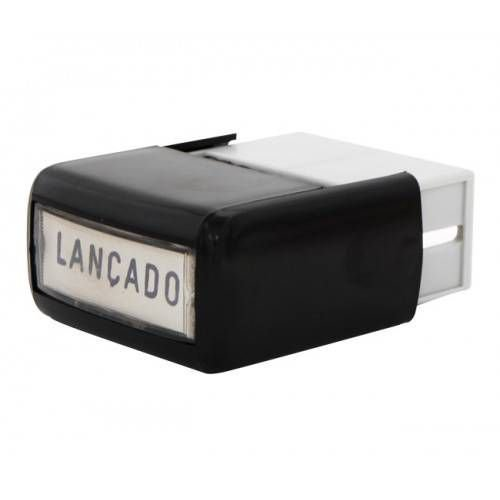 "CARIMBO AUTOMÁTICO ""LANÇADO"" 38X14MM CARBRINK"