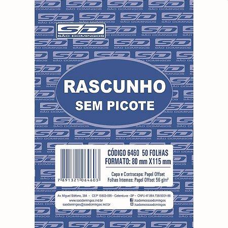 BLOCO RASCUNHO 8X11 50FLS. SULFITE S/PICOTE 6460 SÃO DOMINGOS