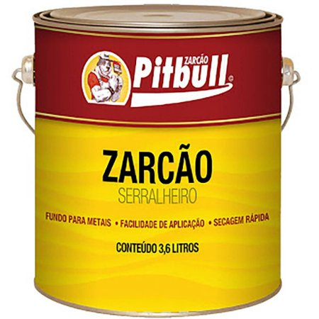 ZARCÃO OXIDO(C)3,6 L GALÃO SERRALHEIRO PITBULL NATRIELLI