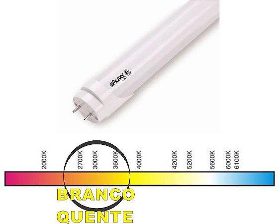 TUBO LED T8 10W. 600MM 3000K LEITOSA VIDRO GALAXY