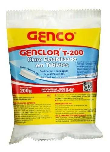 CLORO EM PASTLHA 3 EM 1 200GR. T-200 GENCO