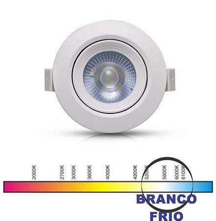 SPOT LED REDONDO 05W 6000K COB ALL LED