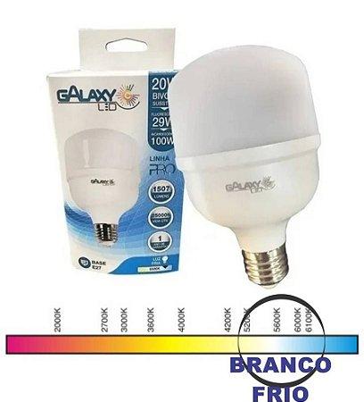 LED T80 20W 6000K BIVOLT E27 GALAXY